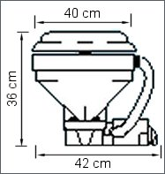 Electric marine toilet, 12 V, pump mounted horizontally