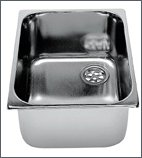 Custom sink, st. steel, Length : 320 mm, Width : 260 mm