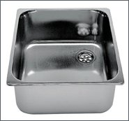 Custom sink, st. steel, Length : 350 mm, Width : 322 mm