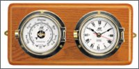 3 inch clock with alarm and barometer