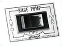 Bilge pump 3-way switch.