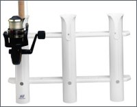 Fishing rod rack for bulkhead mounting, for 3 rods