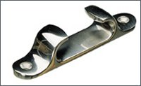 St. Steel straight fairlead : 127 mm