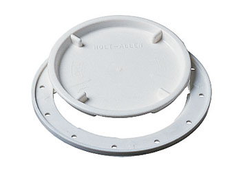 10 White Inspection Hatch Cover 102mm