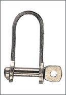 Flat shackle, AISI 304, st. steel, automatic :  8 mm