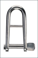 Forged shackle, AISI 316, st. steel, auto + bar :  5 mm