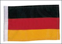 Nylon flag, Germany, 30 x 23 cm
