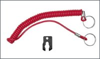 Red coiled lanyard for outboard engines Honda - OMC