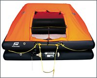 6 Man Cruiser liferaft, standard , single  floor, in valise