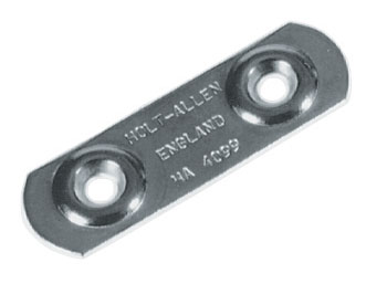 2 Stainless Steel Toe Strap Plate