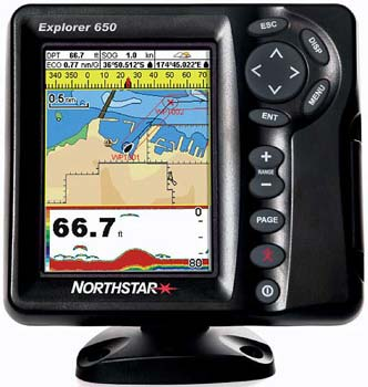 Northstar Explorer 650-Combination Chartplotter/Fishfinder NS006611