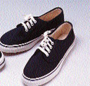 traditional canvas deck shoe