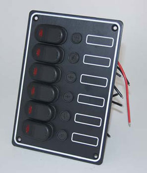 6 gang panel switch
