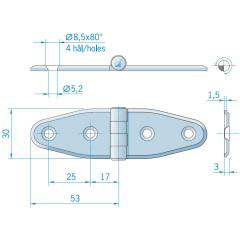 stainless steel hinge 3062